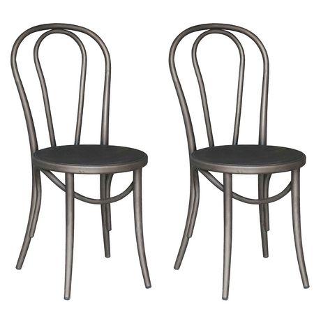 Worldwide Homefurnishings Metal Grey Dining Chair
