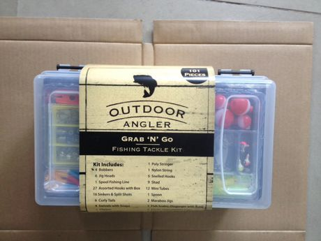 Outdoor angler grab n go fishing tackle kit for Fishing kit walmart