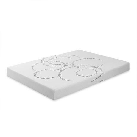 canada 39 s best mattress 6 inch white foam mattress. Black Bedroom Furniture Sets. Home Design Ideas