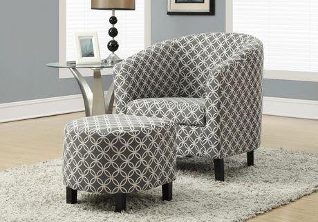 Monarch Specialties Grey Accent Chair Walmart Canada
