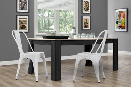 Dhp Nova White Metal Mesh Dining Chairs Walmart Canada
