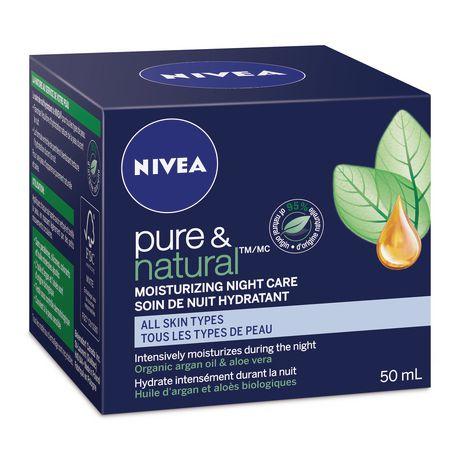 nivea pure natural moisturizing night care cream for all. Black Bedroom Furniture Sets. Home Design Ideas