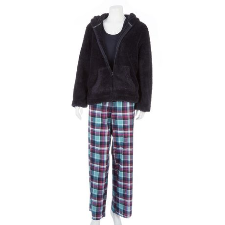 pyjama george pour femmes 3 pi ces. Black Bedroom Furniture Sets. Home Design Ideas