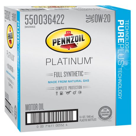 Pennzoil platinum sae 0w 20 full synthetic motor oil for Sae 0w 20 synthetic motor oil