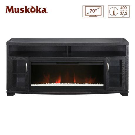 Muskoka 42 Widescreen Electric Fireplace Media Console Rich Espresso Finish