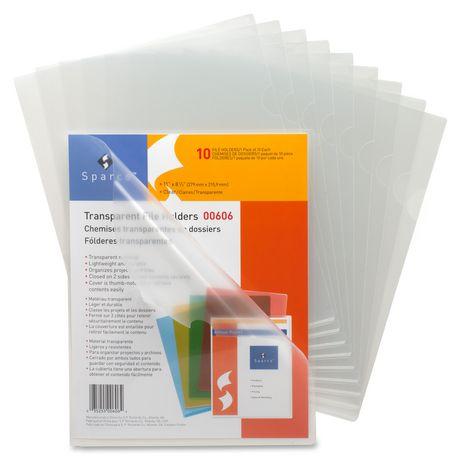 Sparco transparent file holder for Craft plastic sheets walmart