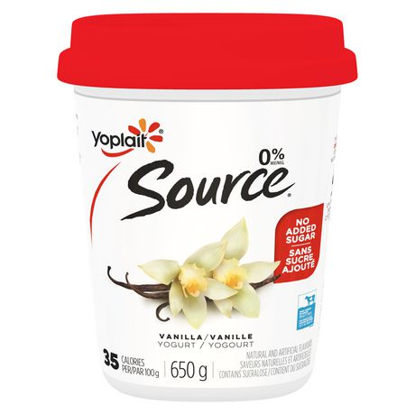 Yoplait Source Vanilla Yogurt | Walmart.ca