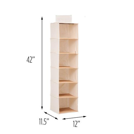 Honey-Can-Do 6-Shelf Sweater Organizer Beige