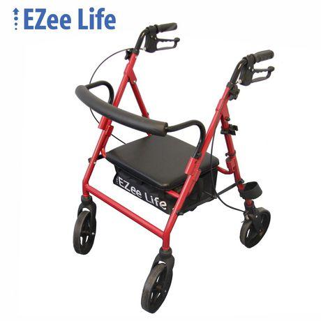 Ezee Life 14 Quot Seat Width Economy Folding Aluminum Rollator