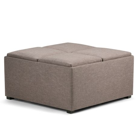 wyndenhall franklin storage ottoman with 4 trays. Black Bedroom Furniture Sets. Home Design Ideas