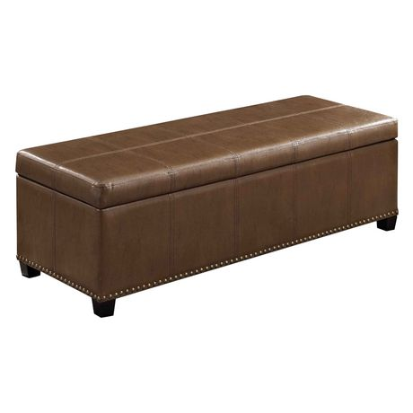 Wyndenhall stanford large rectangular storage ottoman for Storage ottoman walmart