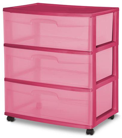 Sterilite Wide 3 Drawer Cart Girl Walmart Ca