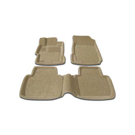 Findway 3d floor mats for 2003 2007 honda accord sedan 26010bg beige for 1992 honda accord floor mats