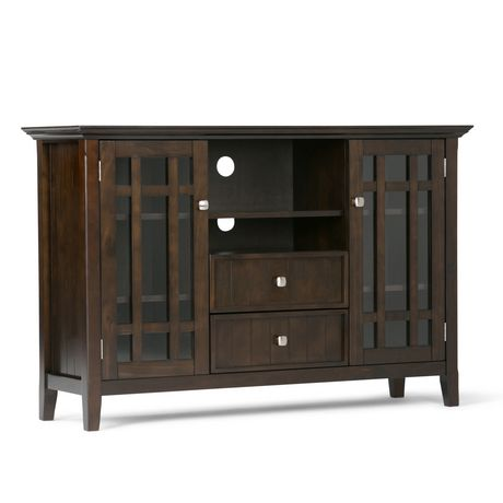 wyndenhall freemont tobacco brown tall tv stand. Black Bedroom Furniture Sets. Home Design Ideas