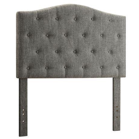 whi t te de lit convertible capitonn e de boutons en lin. Black Bedroom Furniture Sets. Home Design Ideas