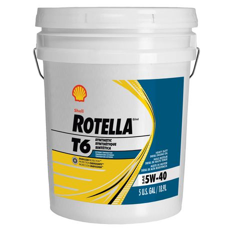 Rotella t6 synthetic sae 5w 40 heavy duty diesel engine for 5 w 40 motor oil
