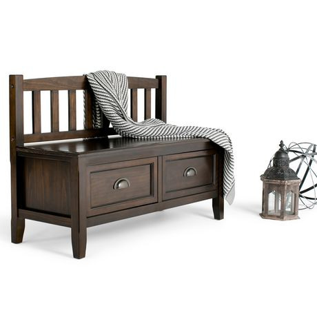 banc de rangement pour hall d entr e portland de wyndenhall en brun espresso. Black Bedroom Furniture Sets. Home Design Ideas
