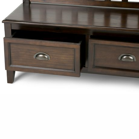 banc de rangement pour hall d entr e portland de wyndenhall en brun espresso. Black Bedroom Furniture Sets. Home Design Ideas