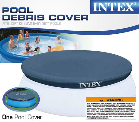 Intex 12ft easy set swimming pool debris cover for Swimming pool supplies walmart