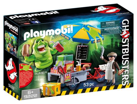 Playmobil Slimer With Hot Dog Stand 9222 Play Set