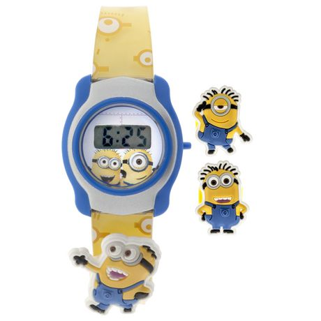 Minions kids despicable me lcd digital watch walmart canada for Despicable watches