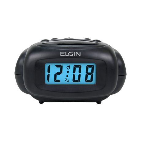 elgin mini digital 5 minute snooze alarm clock. Black Bedroom Furniture Sets. Home Design Ideas