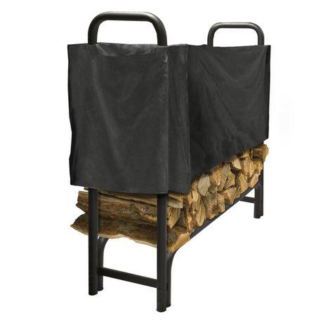 pleasant hearth 4 ft half log rack cover. Black Bedroom Furniture Sets. Home Design Ideas