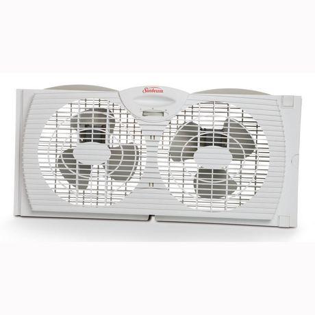 Ventilateur double pour fen tre de sunbeam 7 po for Ventilateur de fenetre