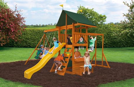 Cedar Summit Laurentian Wooden Play Set F23280 Walmart Ca