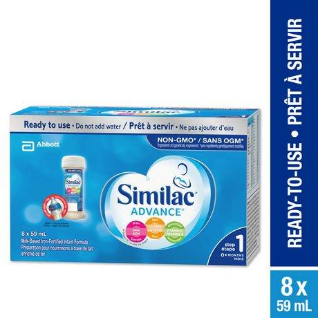 similac advance step 1 infant formula, ready to feed