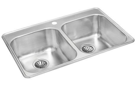 Wessan double bowl kitchen sink - Walmart kitchen sinks ...