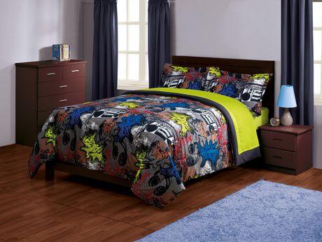 Your Zone Modern Bedding Comforter Set Walmart Ca