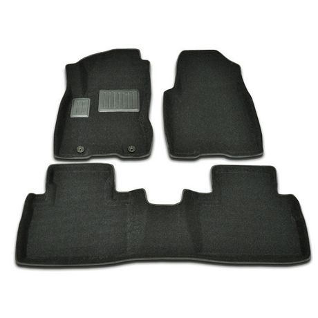 findway 3d floor mats for 2008 2013 nissan rogue 46130bb. Black Bedroom Furniture Sets. Home Design Ideas