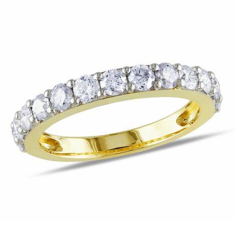 miabella 1 carat t w 10 k yellow gold anniversary