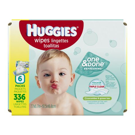 Huggies One And Done Refreshing Baby Wipes Soft Pack