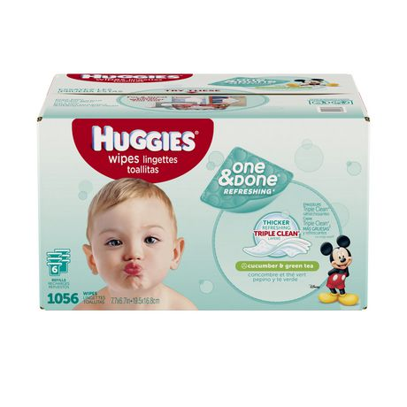 Huggies One Amp Done Refreshing Baby Wipes Scented
