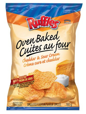 Ruffles Oven Baked Cheddar & Sour Cream Potato Chips ...