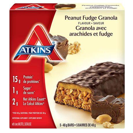 Atkins peanut fudge granola bar