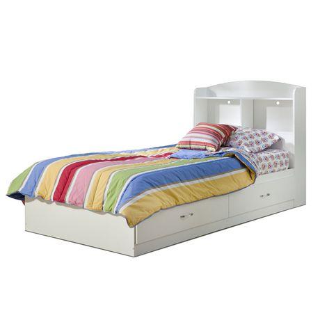 t te de lit biblioth que collection logik de meubles south shore simple 39 po. Black Bedroom Furniture Sets. Home Design Ideas