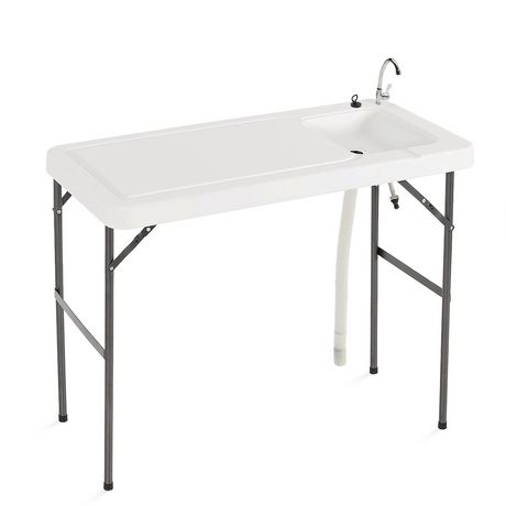 Table pliante usages multiples avec robinet et vier d for Table pliante walmart