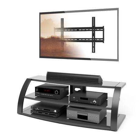 Corliving table de t l viseur malibu avec monture et for Table televiseur