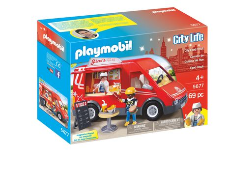 Playmobil city food truck playset for Cuisine playmobil