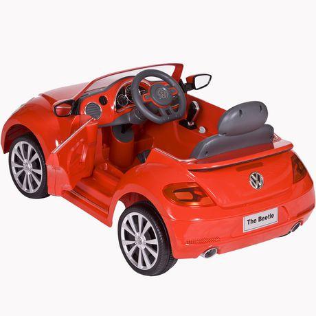 rollplay 6v red vw beetle. Black Bedroom Furniture Sets. Home Design Ideas