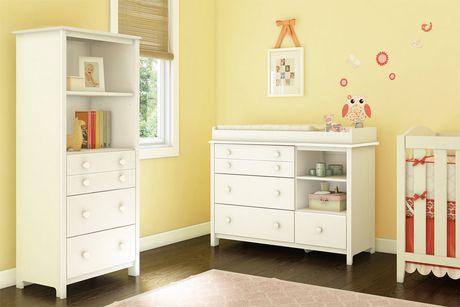 table langer avec pourtour amovible et tag re avec tiroirs blanc solide collection little. Black Bedroom Furniture Sets. Home Design Ideas