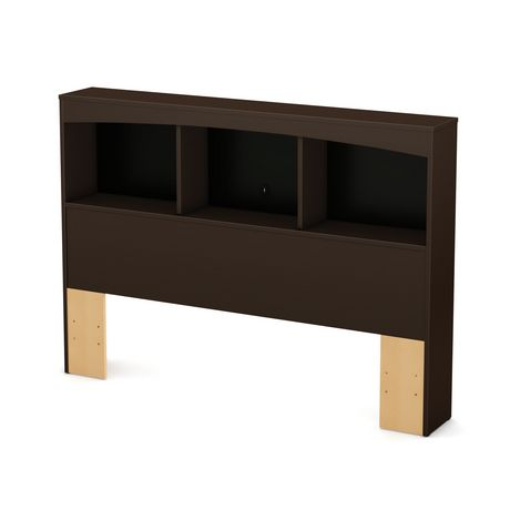 t te de lit biblioth que collection soho de meubles south shore double 54 po. Black Bedroom Furniture Sets. Home Design Ideas
