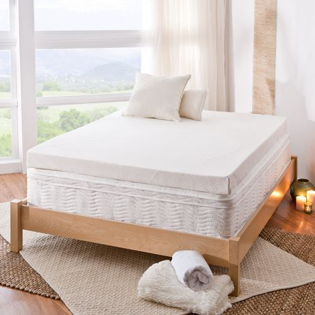 Spa Sensations 4 Inch Memory Foam Mattress Topper Walmart Ca