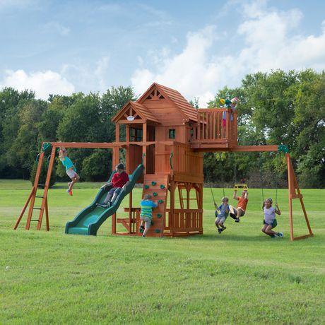 Backyard Discovery Skyfort Ii Swing Set Walmart Ca