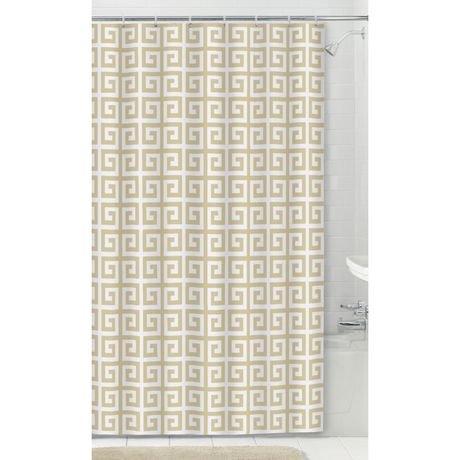 Rideau de douche en tissu de mainstays walmart canada - Rideau de douche lavable en machine ...