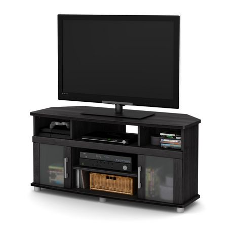 south shore city life corner tv stand for tvs up to 50 inches walmart canada. Black Bedroom Furniture Sets. Home Design Ideas