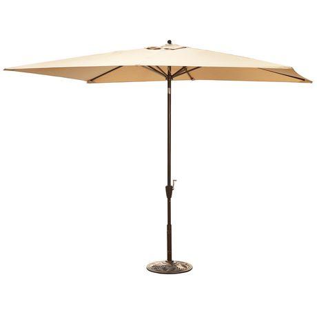 parasol rectangulaire de style march de 2 x 3 m 6 5 x 10 pi avec toile acrylique sunbrella de. Black Bedroom Furniture Sets. Home Design Ideas